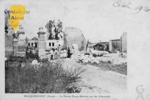 Ferme Happe détruite par les Allemands - Contributeur : Colette Brille