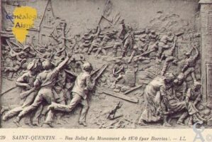 Bas Relief du Monument de 1870 (par Barrias).   - Contributeur : Guy Gilkin
