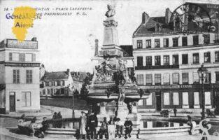 Place Lafayette - Fontaine Paraingault. - Contributeur : Guy Gilkin