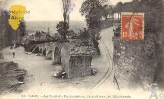 le pont du Funiculaire, détruit par les allemands. - Contributeur : Jean Michel Paris