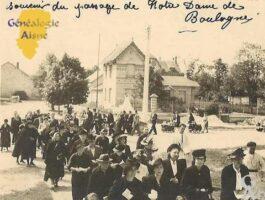 souvenir du passage de Notre Dame de Boulogne. - Contributeur : Evelyne Dameron