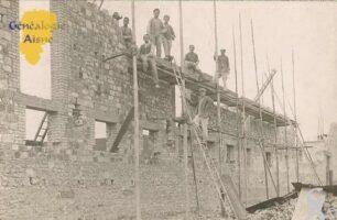 ouvriers sur un chantier - Contributeur : Evelyne Dameron