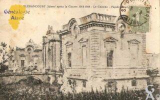 après la Guerre 1914 - 1918 - le Château - Façade principale. - Contributeur : Michel Bouyenval