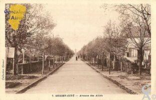 Avenue des Alliés - la commune de Quessy a été rattachée à la commune de Tergnier le 1er Janvier 1992. - Contributeur : Michel Bouyenval