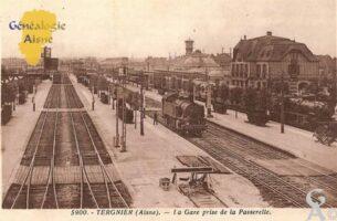 la Gare prise de la passerelle - Contributeur : Michel Bouyenval