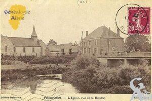 l'église, vue de la rivière. - Contributeur : D. PREVOST
