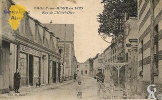 Rue de l'Hôtel-Dieu en 1925. - Contributeur : Evelyne Dameron