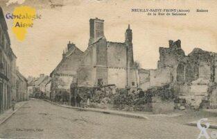 les ruines de la rue de Soissons - Contributeur : Evelyne Dameron -