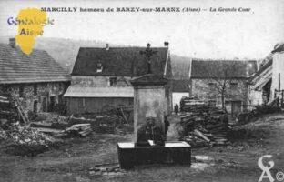 Marcilly hameau de Barzy sur Marne - la Grande Cour. - Contributeur : Guy Gilkin