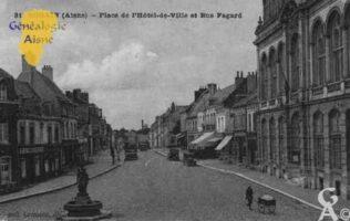 Place de l'Hôtel de Ville et rue Fagard - Contributeur : Guy Gilkin