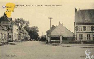 La rue du Château vers Vervins - Contributeur : Colette Brille