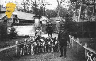 Forêt de Coucy - Chasse à Courre - Rond d'Orléans - Départ des chiens  - Contributeur : Guy Gilkin
