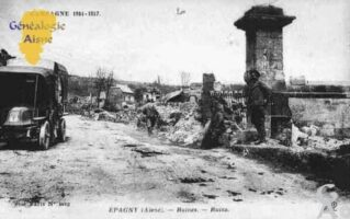 Campagne 1914 - 1917 - Ruines - Contributeur : Guy Gilkin