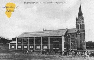 La Salle des Fêtes et l'Église Saint-Rémi - Contributeur : Guy Gilkin