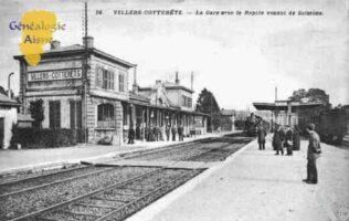 La Gare avec le Rapide venant de Soissons - Contributeur : Guy Gilkin