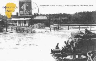 En 1919 - Emplacement de l'ancienne Gare - Contributeur : Guy Gilkin