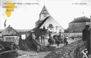 L'Église et la Place. - Contributeur : Guy Gilkin