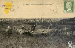 Le cimetière américain vers 1920 - Contributeur : T.Martin