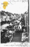 Le Marché le vendredi des Courses en 1902 - Contributeur : Guy Gilkin