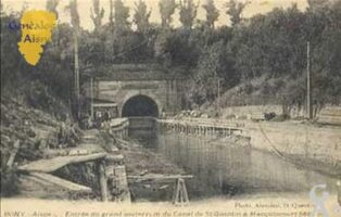 Entrée du grand souterrain du canal de St-Quentin à Macquincourt - Contributeur : T.Martin