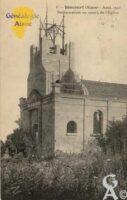 restauration de l'église (août 1923) - Contributeur : Colette Brille