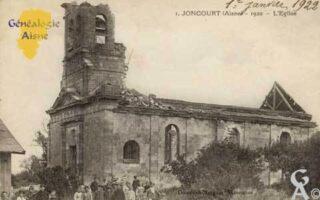 l'église en 1920 - Contributeur : Colette Brille