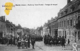 Faubourg Saint-Nicolas - Passage de troupes - Contributeur : Guy Gilkin