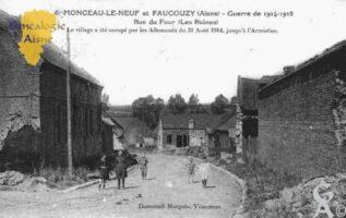 Guerre 1914-1918 - Rue du Four (Les Ruines). Le village a été occupé par les Allemands du 31 Aôut 1914 jusqu'à l'Armistice.  - Contributeur : Guy Gilkin