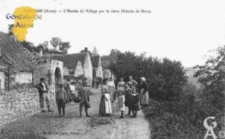 L'Entrée du village par le vieux chemin de Bourg - Contributeur : Guy Gilkin
