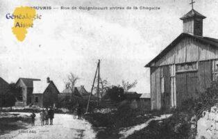 Rue de Guignicourt, entrée de la Chapelle - Contributeur : Guy Gilkin