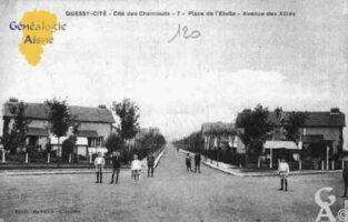 Quessy-Cité - Cité des Cheminots - Place de l'Étoile - Avenue des Alliés - Contributeur : Guy Gilkin
