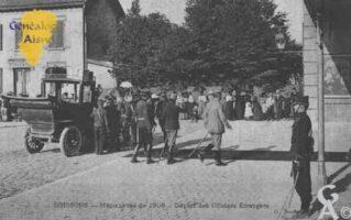 Manoeuvres de 1905 - Départ des Officiers Étrangers - Contributeur : Guy Gilkin