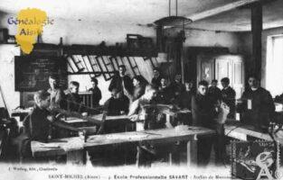 École Professionnelle SAVART - Atelier de Mennuiserie - - Contributeur : Guy Gilkin