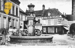 Fontaine en plomb martelé - Magasin au