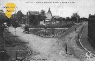 Route de Montcornet, de Marle et Avenue de la Gare  - Contributeur : Guy Gilkin