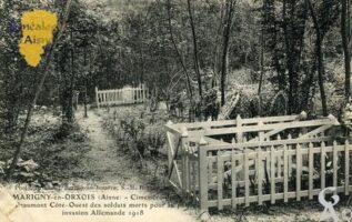 Cimetière du Savart-Beaumont Côté-Ouest des soldats morts pour la patrie invasion Allemande 1918.   - Contributeur : François Gérard