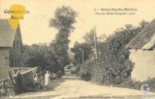 Rue Saint-Souplet en 1923 - Contributeur : Serge Hiet