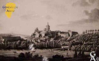le château-fort au début du XVIIIème siècle - Contributeur : Archives municipales de Saint-Quentin