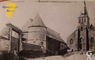 l'église et l'ancien château - Contributeur : Archives municipales de Saint-Quentin