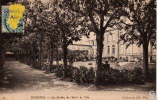 Les jardins de l'Hôtel de Ville - Contributeur : G.Langlois