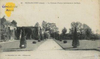 Le château : ruines interieur et jardins - Contributeur : Mme Bouillon