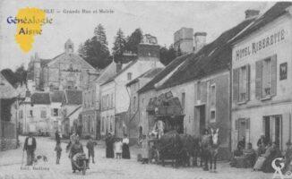 La malle poste - Grande rue et mairie - Contributeur : F.Gérard