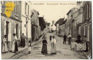 Rue principale et bureau de poste - Contributeur : F.Gérard - C.G.P.T.T