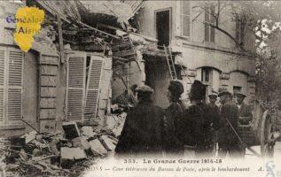 Cour intérieure de la Poste -Guerre 1914 - Contributeur : F.Gérard - C.G.P.T.T