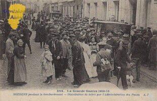 Distribution de tabac par l'Administration des Postes - Guerre 1914 - Contributeur : F.Gérard - C.G.P.T.T