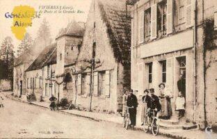 Le bureau de poste et la GRande Rue - Contributeur : F.Gérard - C.G.P.T.T