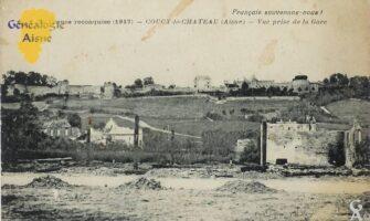 Vue prise de la gare 1917 - Contributeur : M. Bouillon
