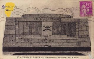 Le monument aux morts des chars d'assaut - Contributeur : A.DEmolder