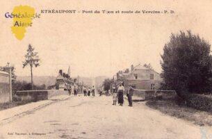 Pont du Thon et route de Vervins - Contributeur : A.Demolder