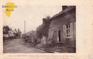Rue de la croix - épisode du 27 Août 1914 - Contributeur : A.Demolder